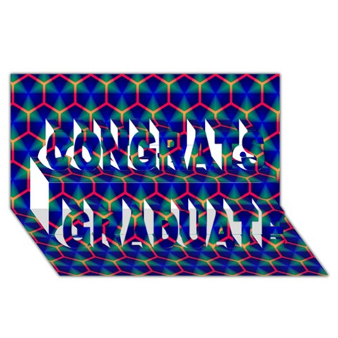 Honeycomb Fractal Art Congrats Graduate 3D Greeting Card (8x4)