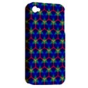 Honeycomb Fractal Art Apple iPhone 4/4S Hardshell Case (PC+Silicone) View2