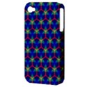 Honeycomb Fractal Art Apple iPhone 4/4S Hardshell Case (PC+Silicone) View3