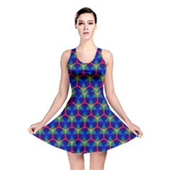 Honeycomb Fractal Art Reversible Skater Dress