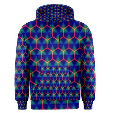 Honeycomb Fractal Art Men s Pullover Hoodie