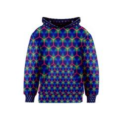 Honeycomb Fractal Art Kids  Pullover Hoodie