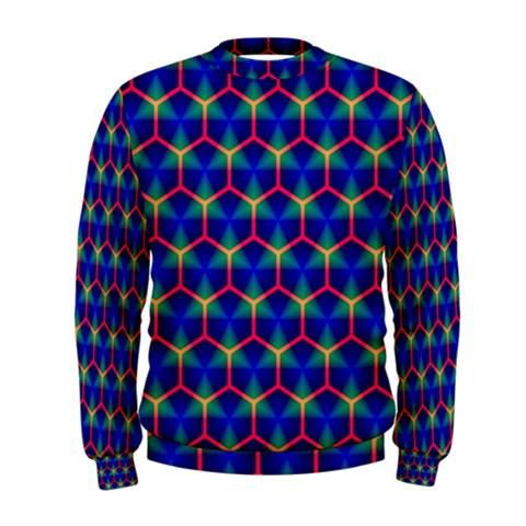 Honeycomb Fractal Art Men s Sweatshirt