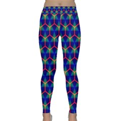 Honeycomb Fractal Art Yoga Leggings