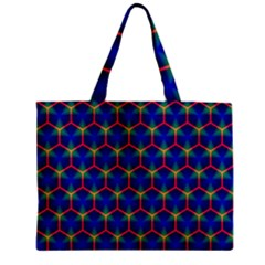Honeycomb Fractal Art Zipper Mini Tote Bag