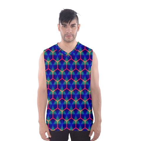 Honeycomb Fractal Art Men s Basketball Tank Top