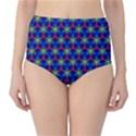 Honeycomb Fractal Art High-Waist Bikini Bottoms View1
