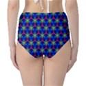 Honeycomb Fractal Art High-Waist Bikini Bottoms View2