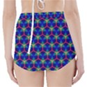 Honeycomb Fractal Art High-Waisted Bikini Bottoms View2