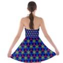 Honeycomb Fractal Art Strapless Bra Top Dress View2