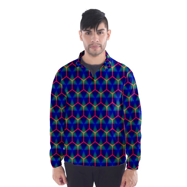 Honeycomb Fractal Art Wind Breaker (Men)