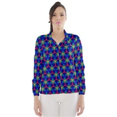 Honeycomb Fractal Art Wind Breaker (Women)