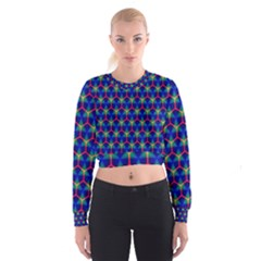 Honeycomb Fractal Art Women s Cropped Sweatshirt