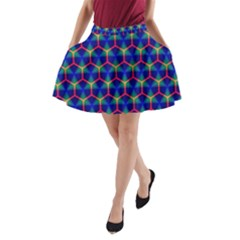 Honeycomb Fractal Art A-Line Pocket Skirt