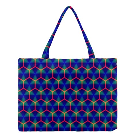 Honeycomb Fractal Art Medium Tote Bag