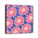 Pink Daisy Pattern Mini Canvas 6  x 6  View1
