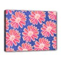 Pink Daisy Pattern Canvas 16  x 12  View1