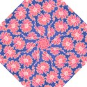 Pink Daisy Pattern Straight Umbrellas View1