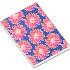Pink Daisy Pattern Large Memo Pads