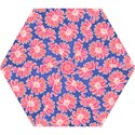 Pink Daisy Pattern Mini Folding Umbrellas View1