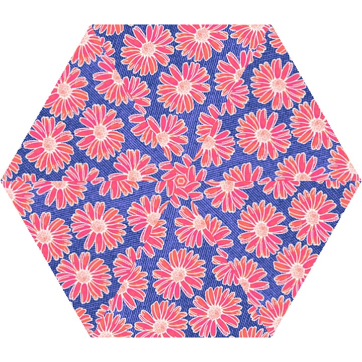 Pink Daisy Pattern Mini Folding Umbrellas