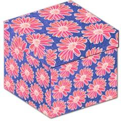 Pink Daisy Pattern Storage Stool 12