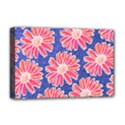 Pink Daisy Pattern Deluxe Canvas 18  x 12   View1
