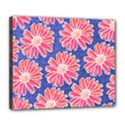 Pink Daisy Pattern Deluxe Canvas 24  x 20   View1