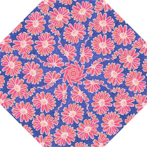Pink Daisy Pattern Hook Handle Umbrellas (Medium)
