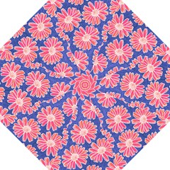 Pink Daisy Pattern Hook Handle Umbrellas (Medium)