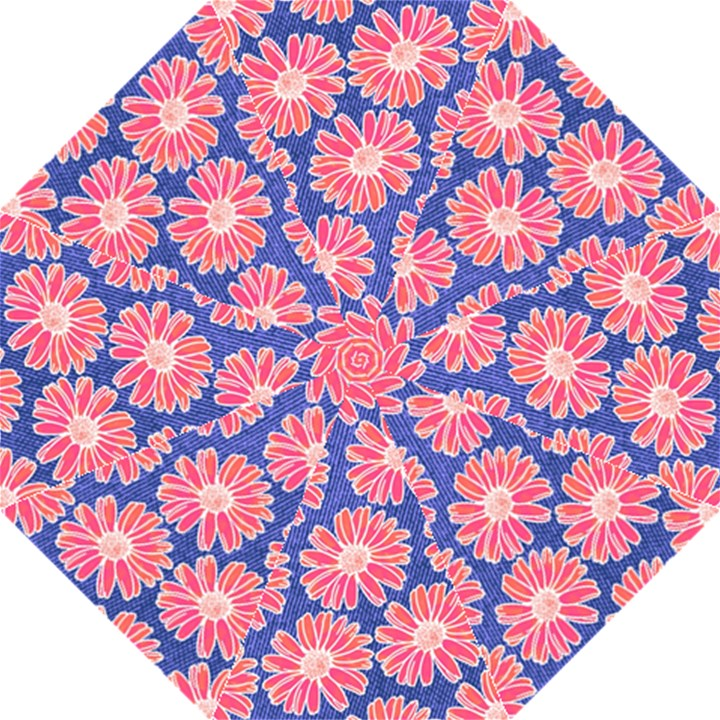 Pink Daisy Pattern Hook Handle Umbrellas (Large)