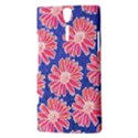 Pink Daisy Pattern Sony Xperia S View3