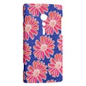 Pink Daisy Pattern Sony Xperia ion View2