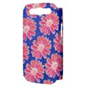 Pink Daisy Pattern Samsung Galaxy S III Hardshell Case (PC+Silicone) View3
