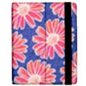 Pink Daisy Pattern Apple iPad 2 Flip Case View2