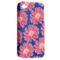 Pink Daisy Pattern Apple iPhone 4/4S Hardshell Case (PC+Silicone) View2