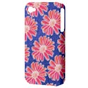 Pink Daisy Pattern Apple iPhone 4/4S Hardshell Case (PC+Silicone) View3