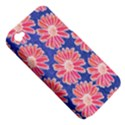 Pink Daisy Pattern Apple iPhone 4/4S Hardshell Case (PC+Silicone) View5