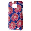 Pink Daisy Pattern Samsung Galaxy S II i9100 Hardshell Case (PC+Silicone) View3