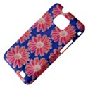Pink Daisy Pattern Samsung Galaxy S II i9100 Hardshell Case (PC+Silicone) View4