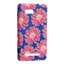 Pink Daisy Pattern HTC One SU T528W Hardshell Case View2