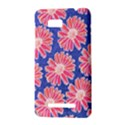 Pink Daisy Pattern HTC One SU T528W Hardshell Case View3