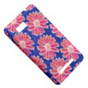 Pink Daisy Pattern HTC One SU T528W Hardshell Case View5