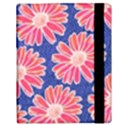 Pink Daisy Pattern Samsung Galaxy Tab 10.1  P7500 Flip Case View3