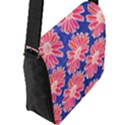 Pink Daisy Pattern Flap Messenger Bag (L)  View2