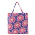 Pink Daisy Pattern Grocery Tote Bag View1