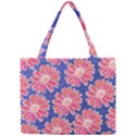Pink Daisy Pattern Mini Tote Bag View1