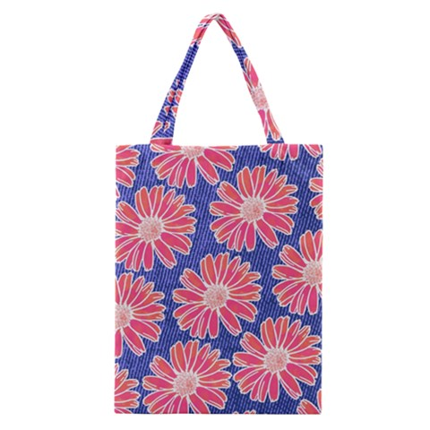 Pink Daisy Pattern Classic Tote Bag