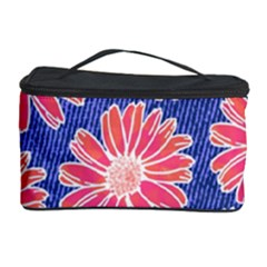 Pink Daisy Pattern Cosmetic Storage Case
