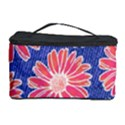 Pink Daisy Pattern Cosmetic Storage Case View1